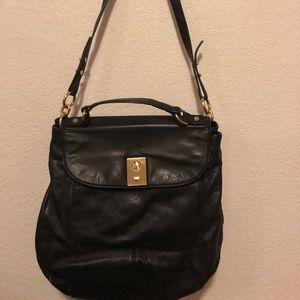 Black leather work bag